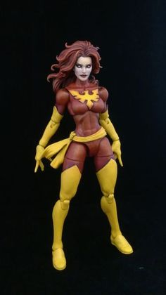 Dark phoenix ( jean grey) (Marvel Legends) Custom Action Figure by Fave Base figure: Cap. Marvel, Scarlet Witch, Hellcat