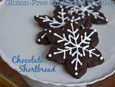 Gluten-Free Chocolate Shortbread Cookies: Christmas Cookies!