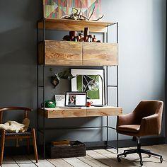 """Buy west elm Industrial Modular 49"""" Desk Online at johnlewis.com"""