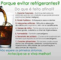 #Motivos para evitar os #refrigerantes.