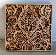 Recent work by California-based wood artist Gabriel Schama (previously). Gabriel has the incredible ability to create laser-cut relief sculptures embedded with beautifully intricate geometric patterns. Gabriel, Laser Art, Laser Cut Wood, Wooden Statues, Wooden Art, Sculpture Du Bernin, Wood Carving Designs, Grid Design, Design Inspiration
