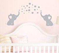 Elephants Bubbles Wall Decal Vinyl Wall Sticker Wall Art Baby Nursery Wall Decor