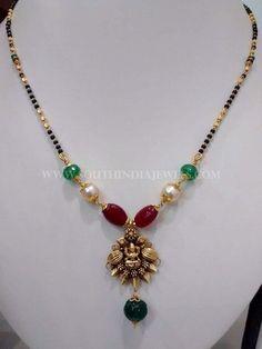 Black Beads, nallapusalu, m angalsutra Gold Mangalsutra Designs, Gold Earrings Designs, Gold Designs, Gold Chain Design, Gold Jewellery Design, Beaded Jewelry, Beaded Necklace, Bridal Necklace, Tassel Earrings