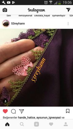 This Pin was discovered by ŞEN Needle Lace, Olay, Irish Crochet, Class Ring, Tatting, Needlework, Diy And Crafts, Monogram, Embroidery