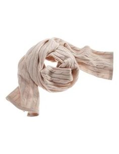 Knitted scarf, pure cashmere