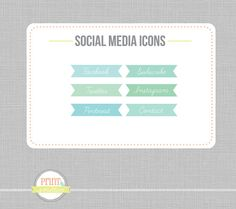 Social Media Icons  Social Networking Icons Blog by PrintSmitten, $9.00
