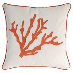 A&B Home Group, Inc Coral Pillow in Orange