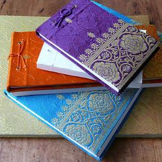 Fair Trade Sari Notepads by Paper High $8.29