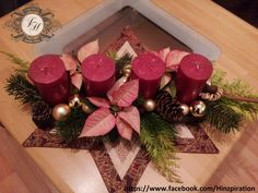 Weihnachten 2013 - Adventsständer mit echten Christsternen
