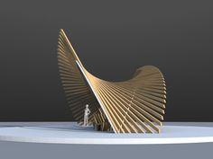 Modern Architecture in Historic Cities Architecture Paramétrique, Concept Models Architecture, Organic Architecture, Chinese Architecture, Futuristic Architecture, Installation Architecture, Bamboo Structure, Timber Structure, Architecture Organique