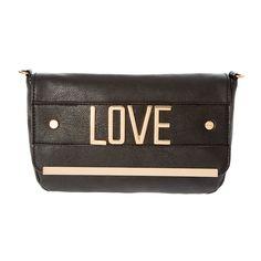 Black & Gold Love Shoulder Bag