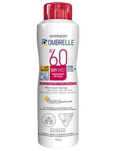 Ombrelle Complete Dry Mist Spray SPF 60. The lesser known cousins to the Anthelios sunscreens