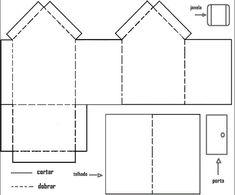 Moldes para hacer casas de papel - Imagui
