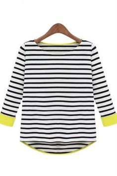 Stripes with contrast - use Aethetic Nests' Bateau Neck pattern