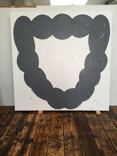 """Amy Feldman studio - """"National Astral"""", acrylic on canvas, 79"""" x 79"""""""
