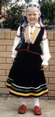Girl from Rucava, Latvia -- a Baltic country and once encompassed by the Soviet Union