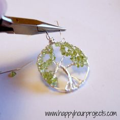Wire-Wrapped Tree Necklace tutorial