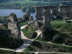 Chateau Gaillard and the River Seine, Eure, Normandy, France