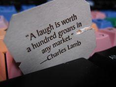 Celestial Seasonings quotation on tea tag (Charles Lamb)