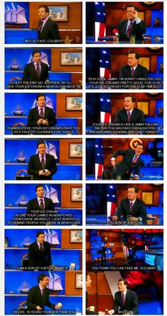 Jimmy Fallon vs Stephen Colbert = sexiest fight ever