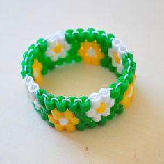 perler bead bracelet pattern via Lydia Purple, via Flickr