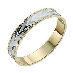 Buy 9ct Gold Plated Sterling Silver Ladies Commitment Ring P at