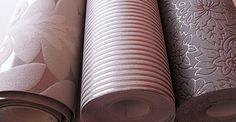 Existem diversos modelos de diversos materiais de papel de parede