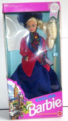 NRFB - DOTW English Barbie / Collection poupées du monde : Barbie Anglaise, 1991