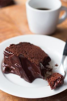 A deep-dark chocolate cake, glazed with bittersweet chocolate. Great with whipped cream or ice cream. A perfect recipe for chocolate-lovers!