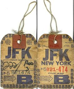 20 great vintage airplane luggage tags