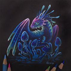Fantasy Dragons Drawings and Paintings Mythical Creatures Art, Magical Creatures, Fantasy Magic, Fantasy Art, Fantasy Drawings, Art Drawings, Cute Dragon Drawing, Dragon Drawings, Tiny Dragon