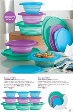 On sale now until April 12, 2013.  Get it while you can!!!  Super space saving...great to bring in your pocket book to bring home leftovers from the restaurant.  Order online today!  www.my2tupperware.com/kimcarvalho