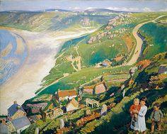 Dame Laura Knight - Autumn light, Sennen Cove, 1920-22.