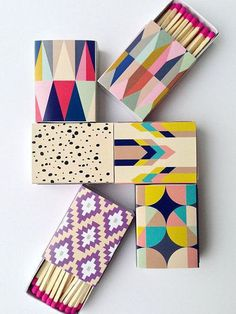 Forget choosing favorites — these colorful, pattern-happy matches ($12 for a set of six) come in a set so you can keep one for your bar, bathroom, bedroom, coffee table . . . you get the picture.   — AE