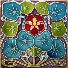 West Side Art Tiles - My Collection gallery Arts And Crafts For Adults, Arts And Crafts House, Art Nouveau Tiles, Art Nouveau Design, Arts And Crafts Movement, Azulejos Art Nouveau, Arts And Crafts Interiors, Jugendstil Design, Art Ancien