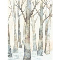 Winterfresh Canvas Wall Art ($398) ❤ liked on Polyvore featuring home, home decor, wall art, backgrounds, art, filler, winter background, winter trees, canvas wall art and tree wall art