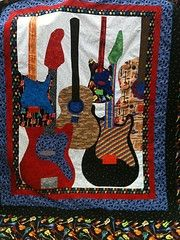 Image Detail for - Groovy Guitar Quilt Pattern | Welcome To Guitar Hookup!