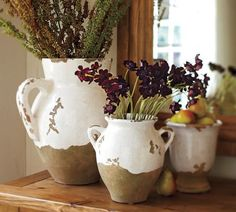 Large tuscan urn | Pottery Barn #home #rustic #decor #tuscanstyle