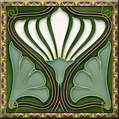 Art-Nouveau-Ceramic-decorative-wall-tile-4-25-X-4-25-Inches-184