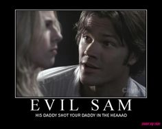 Yes, Jared was pretty good at being evil both then and as Lucifer. ;P