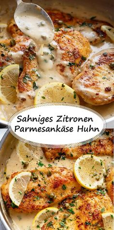 Sahniges Zitronen Parmesankäse Huhn Tavuk tarifleri – The Most Practical and Easy Recipes Cajun Recipes, Chicken Recipes, Parmesan Recipes, Garlic Parmesan, Healthy Food Recipes, Cooking Recipes, Law Carb, Lemon Chicken, Dinner Recipes
