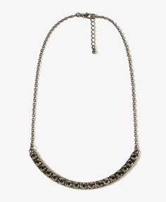 Rhinestoned Crescent Necklace | FOREVER21 - 1016750192