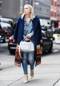 31 Winter Outfit Ideas - Your Daily #OOTD Inspiration for December: Wear a Wool Layer Over Double Denim
