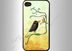 GRAPHICS Cute Beautiful Black BirdBook iphone 4 by stylesoul, $18.99