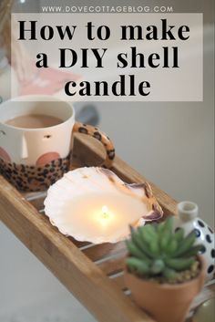 DIY Shell Candles | Dove Cottage
