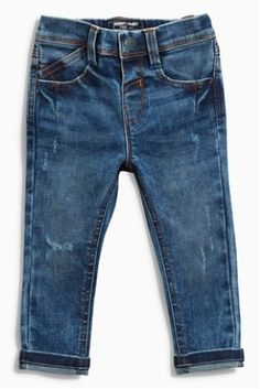 Mid Blue Stretch Five Pocket Jeans (3mths-6yrs)