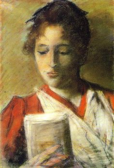 Readers in Art ~ Giovanni Fattori, (1825 – 1908) was an Italian artist, one of the leaders of the group known as the Macchiaioli.