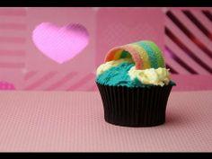 RAINBOW CUPCAKES!  Very easy for unicorn rainbow party - by Charli (+pla...