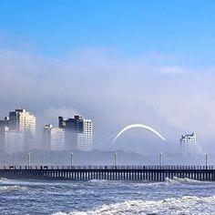 Morning sea fog, Durban