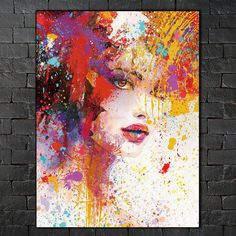 Canvas Painting Pictures abstract painting art prints figures on canvas Wall poster home decoration for living room Abstract Portrait, Portrait Art, Abstract Art, Canvas Home, Wall Canvas, Canvas Poster, Pictures To Paint, Painting Pictures, Art Inspo